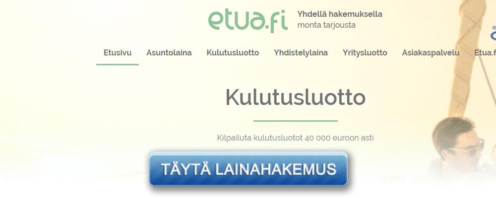 Kuvakaappaus Etua.fi kotisivulta