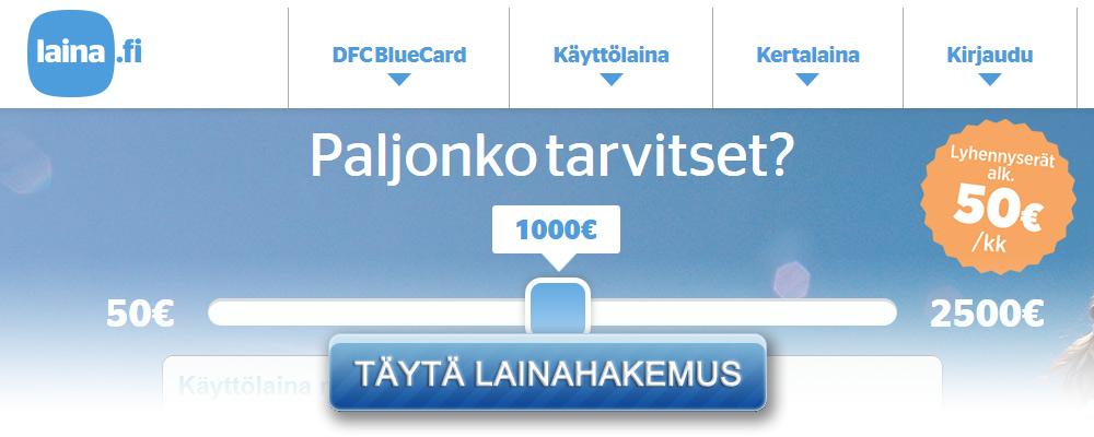 Laina.fi kotisivu kuvakaappaus