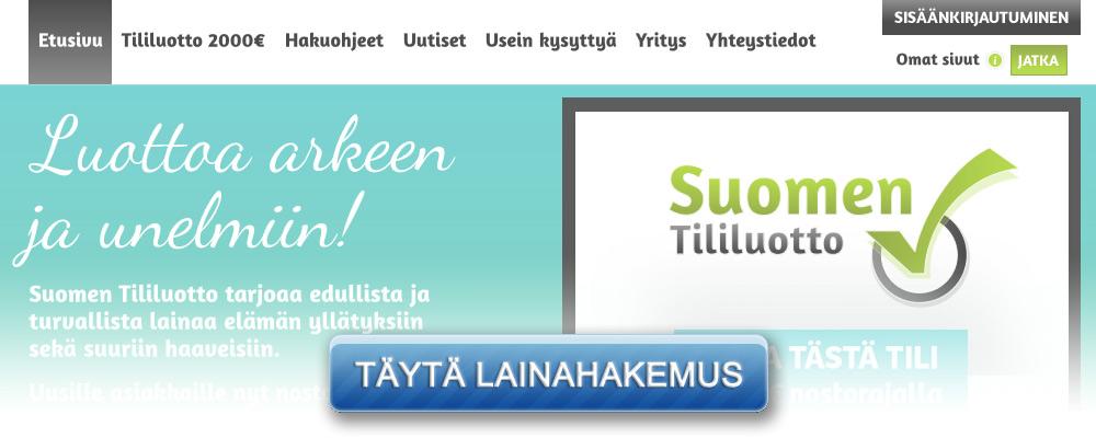 Hae rahaa nopeasti Suomen Tililuotosta