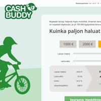 Kuvakaappaus CashBuddy lainapalvelusta