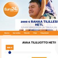 Kuvakaappaus Euro24 pikavippipalvelusta