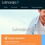 Kuvakaappaus Lainaaja.fi vertaislainapalvelusta