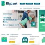 Bigbank lainapalvelun kotisivu