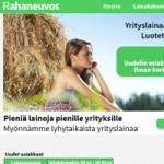 Kuvakaappaus Rahaneuvos yrityslainan kotisivulta