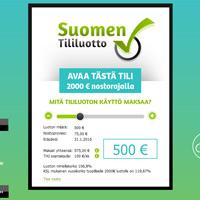 Kuvakaappaus Suomen Tililuotto kulutusluottopalvelusta