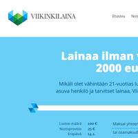 Kuvakaappaus Viikinkilaina joustoluottopalvelusta